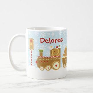 Personalisierte Lebkuchen-Zug-WeihnachtsTasse Kaffeetasse