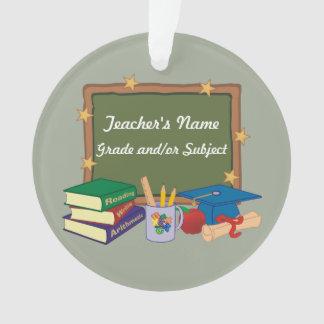 Personalisierte Lehrer-Tafel-Sterne Ornament
