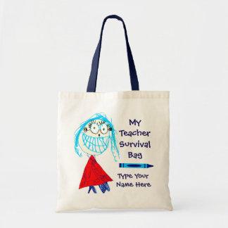 Personalisierte Lehrer-Überlebens-Taschen-Tasche Tragetasche
