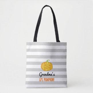 Personalisierte Lil Kürbis-Halloween-Tasche Tasche