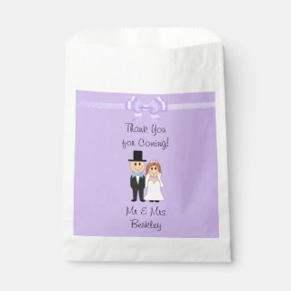 Personalisierte lila Braut-u. Geschenktütchen