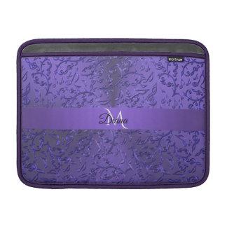 Personalisierte lila Musiknoten Macbook Hülse MacBook Air Sleeve
