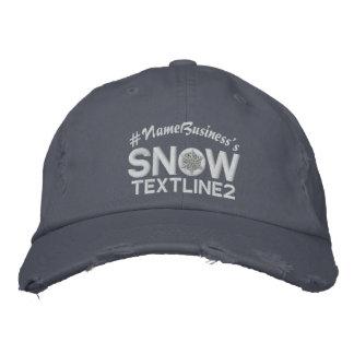 Personalisierte Linien Stickerei der Schneeflocke Bestickte Kappe