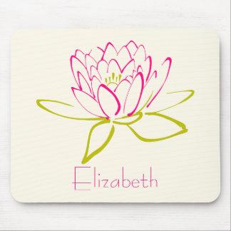 Personalisierte Lotos-Blume/Wasser-Lilie Mousepads
