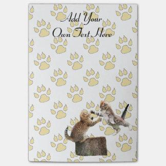Personalisierte lustige Kätzchen Post-it Haftnotiz
