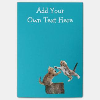 Personalisierte lustige Kätzchen Post-it Klebezettel