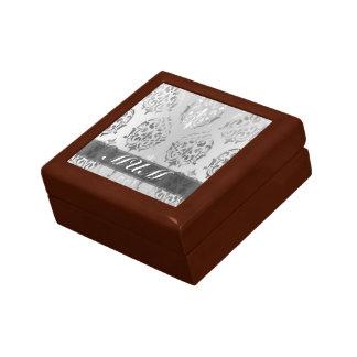 Personalisierte Mamma des silbernen Damastes Geschenkbox