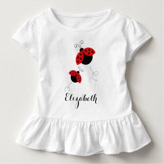 Personalisierte Marienkäfer in Liebe gekräuseltem Kleinkind T-shirt