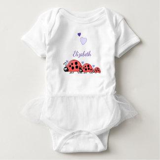 Personalisierte Marienkäfer lila Baby Strampler