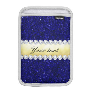 Personalisierte MarineSequins, Gold, Diamanten iPad Mini Sleeve