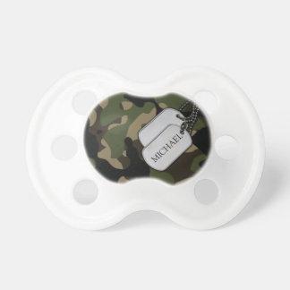 Personalisierte MilitärCamouflage Schnuller