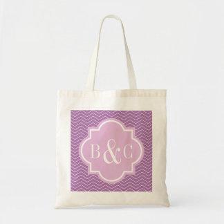 Personalisierte Monogrammhochzeits-Taschentasche Einkaufstasche