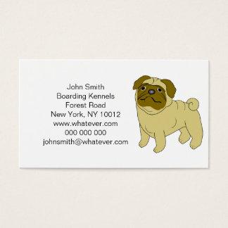 Personalisierte Mops-HundeBoarding-Hundehütten Visitenkarten