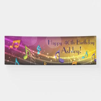 Personalisierte Musiknoten-Geburtstags-Fahne Banner