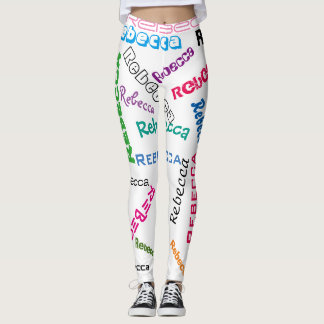 Personalisierte Name-Collage Leggings