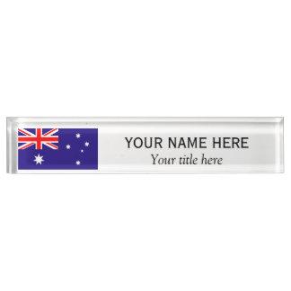 Personalisierte Name und Titel Australierflagge