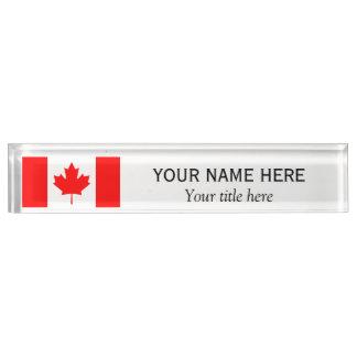 Personalisierte Name und Titel Kanadierflagge