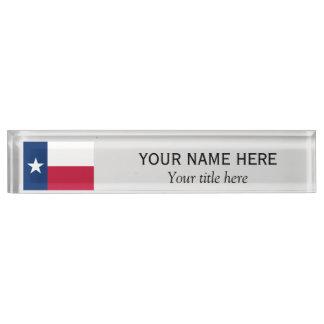 Personalisierte Name und Titel Texas-Staatsflagge