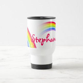 Personalisierte Namen-Regenbogen-Reiseverein-Tasse