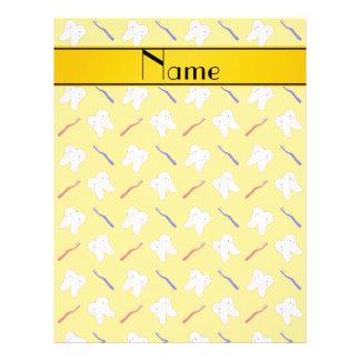Personalisierte Namensgelbbürsten und Zahnmuster 21,6 X 27,9 Cm Flyer