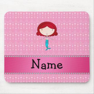 Personalisierte Namensmeerjungfraurosablasen Mousepad