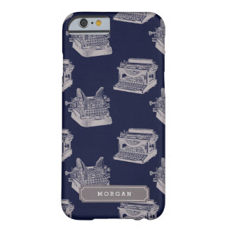 Personalisierte Namensmuster-blaue Vintage Barely There iPhone 6 Hülle