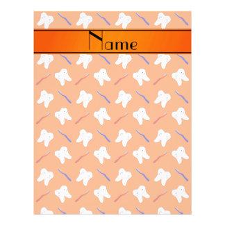 Personalisierte Namensorangenbürsten und 21,6 X 27,9 Cm Flyer