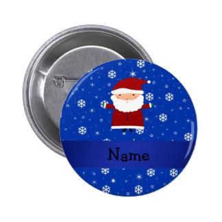 Personalisierte Namenssankt-Blauschneeflocken Runder Button 5,7 Cm