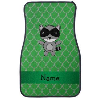 Personalisierte Namensskalen des grünen Drachen Autofußmatte