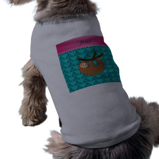 Personalisierte Namensslothtürkis traingles Shirt