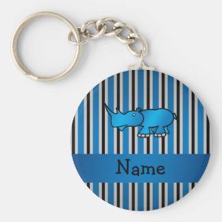 Personalisierte Namensstreifen des blauen Schlüsselanhänger