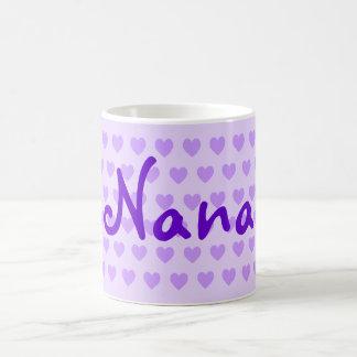 Personalisierte Nana in Lila Kaffeetasse