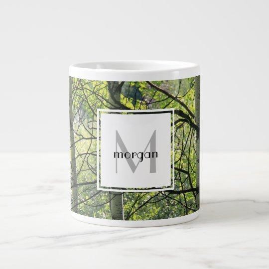 Personalisierte Natur, weiße Espe, addieren Jumbo-Tasse