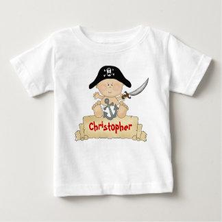 Personalisierte niedliche Baby-Piraten-Jungen Baby T-shirt