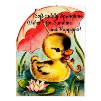 Personalisierte niedliche Chic-Frühlings-Postkarte Postkarte