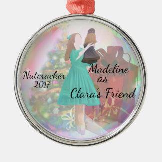 Personalisierte Nussknacker-Verzierung - Claras Silbernes Ornament