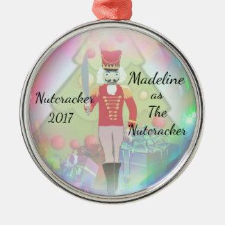 Personalisierte Nussknacker-Verzierung - der Silbernes Ornament