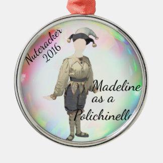 Personalisierte Nussknacker-Verzierung Silbernes Ornament