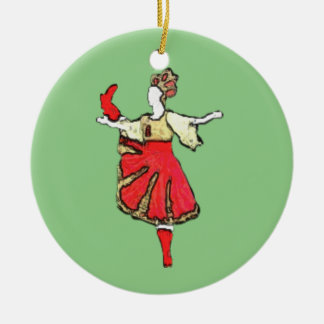 Personalisierte Nussknacker-Verzierung - Trepak Keramik Ornament