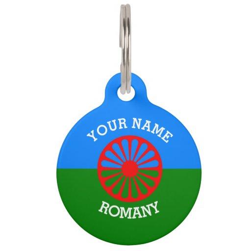 Personalisierte offizielle Romany-Sinti und Hundemarke