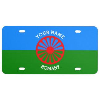 Personalisierte offizielle Romany-Sinti und US Nummernschild