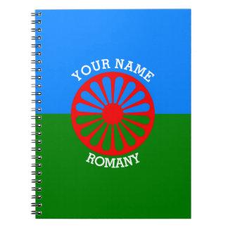 Personalisierte offizielle Romany-Sinti und Spiral Notizbuch