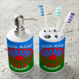 Personalisierte offizielle Romany-Sinti und Zahnbürstenhalter