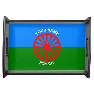 Personalisierte offizielle Romany-Sinti und Serviertablett
