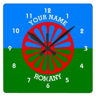 Personalisierte offizielle Romany-Sinti und Wanduhren