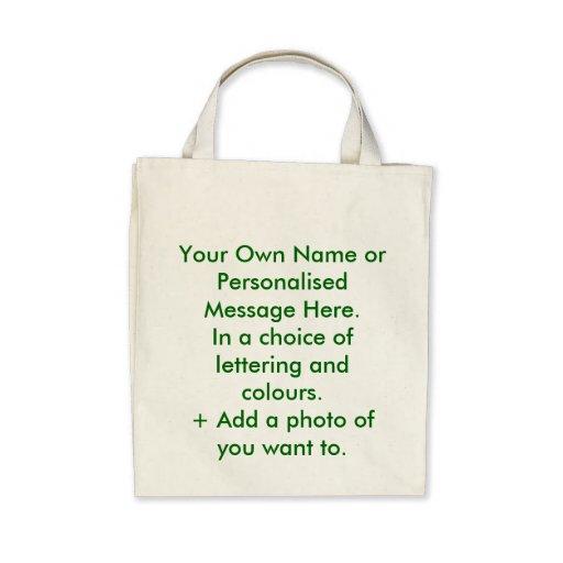 Personalisierte Öko-Tasche. Sie nennen es
