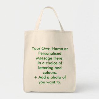 Personalisierte Öko-Tasche. Sie nennen es Einkaufstasche