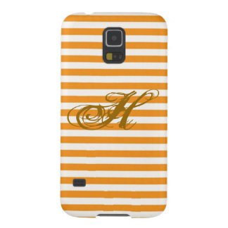 Personalisierte Orange Striped Samsung S5 Hülle