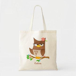 Personalisierte Owlivia Taschen-Tasche Tragetasche