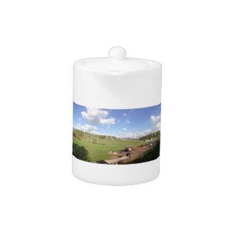 Personalisierte panoramische Foto-Teekanne